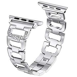 For Apple Watch Stainless Steel Rhinestones Band